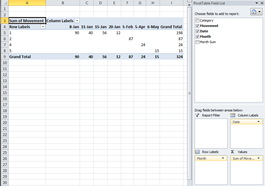 Table plans excel for Excel table design
